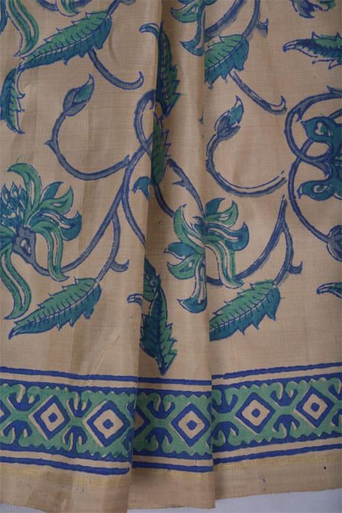 Blue tie dye silk kota saree -11272