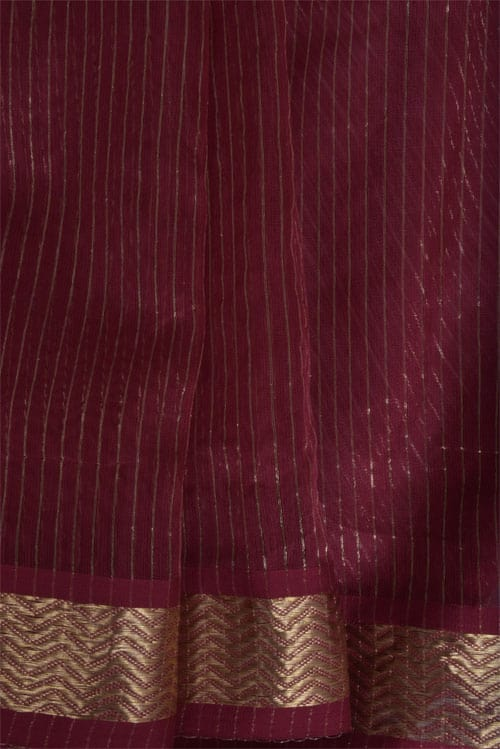 Maroon and gold chandheri saree -11302