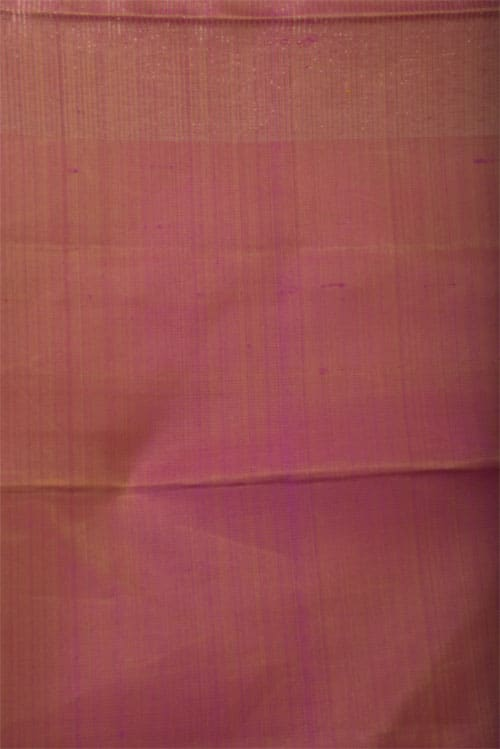 Purple kanchi silk saree with peach border-11377