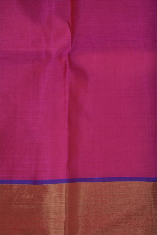Pink kanchi silk saree with zari buttis-11297