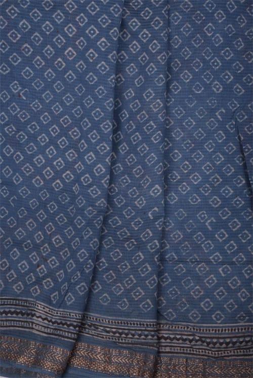 Indigo blue maheshwari saree-11100