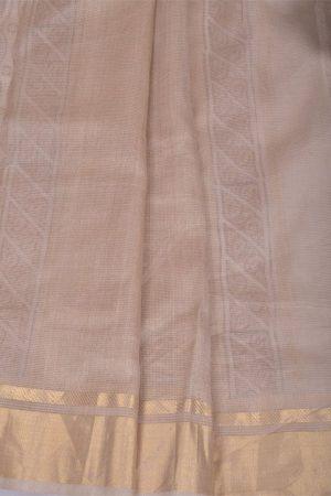 Beige maheshwari block printed saree-11108