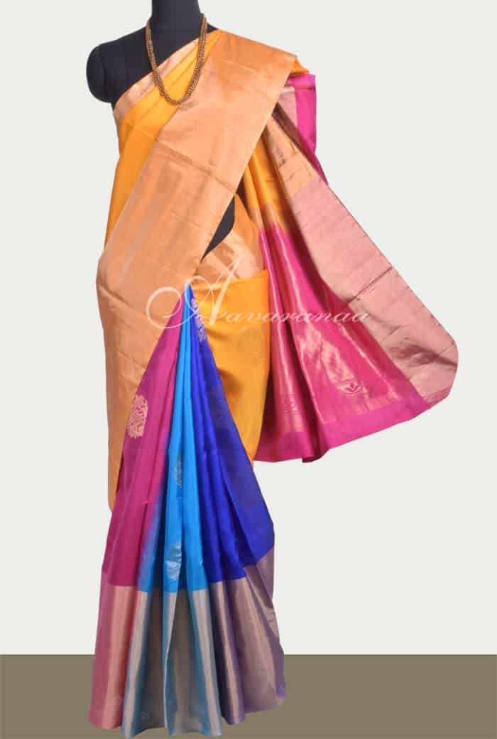 984eddba82a Saree Multi colour soft silk saree Sale Online Shopping