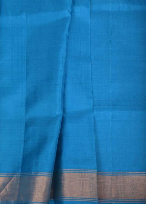 Pink and blue soft silk saree-11144