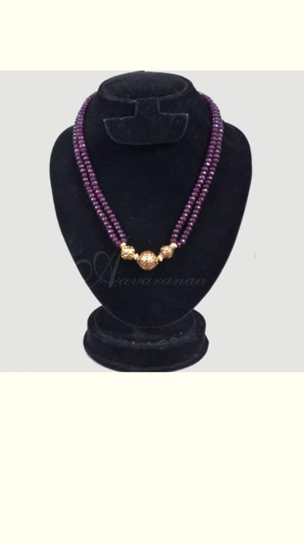 Violet bead chain-0