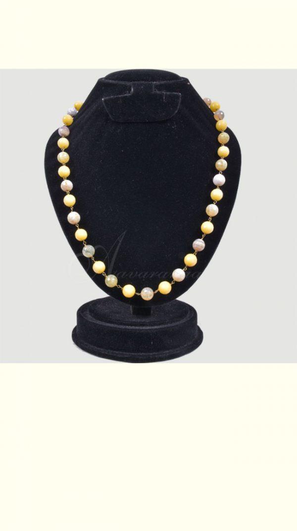 Shaded yellow bead chain-0