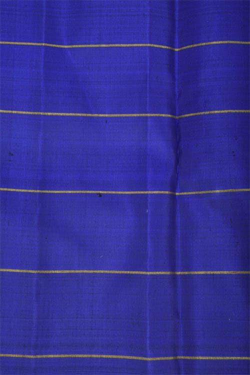 Royal blue and green half and half kanchipuram silk saree-12262