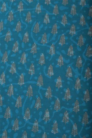 Blue tussar saree with applique work -12002