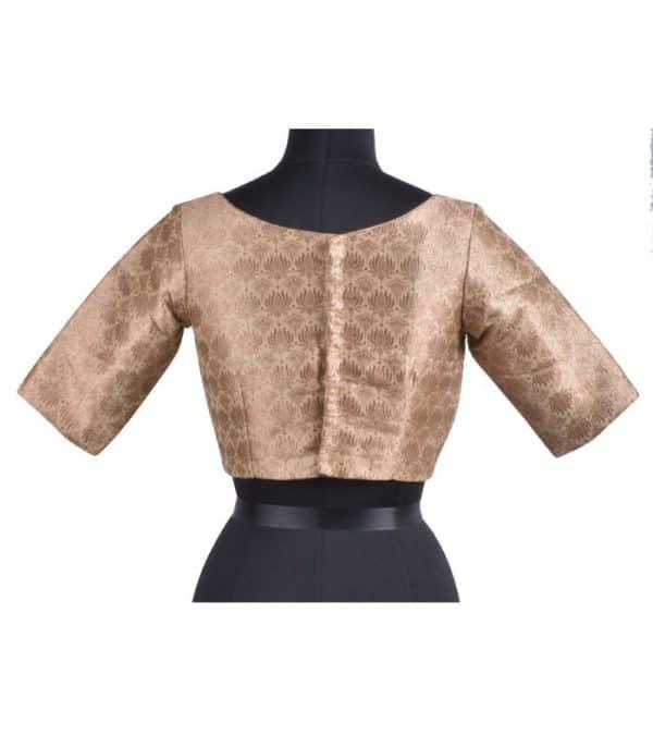 Beige brocade blouse-12043
