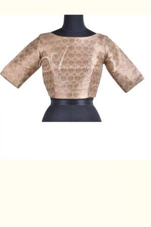 Beige brocade blouse-0