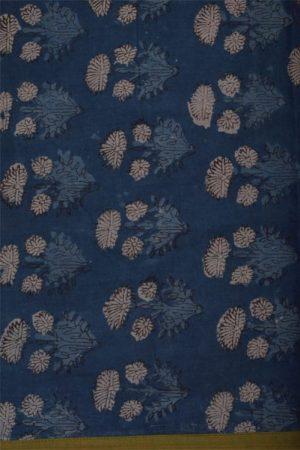 Bagru beige cotton saree-12161