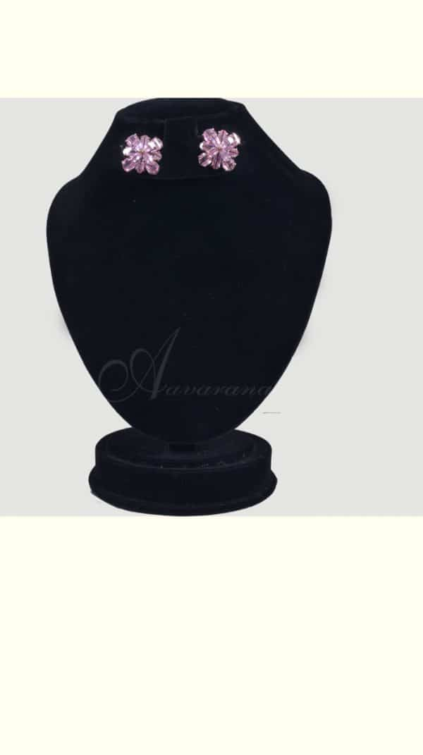 Pink earrings-0