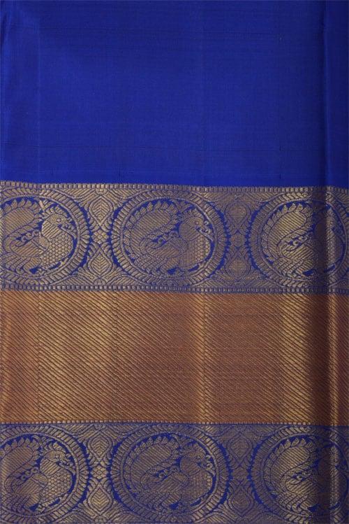 Pink kancheepuram Silk with royal blue border-12295
