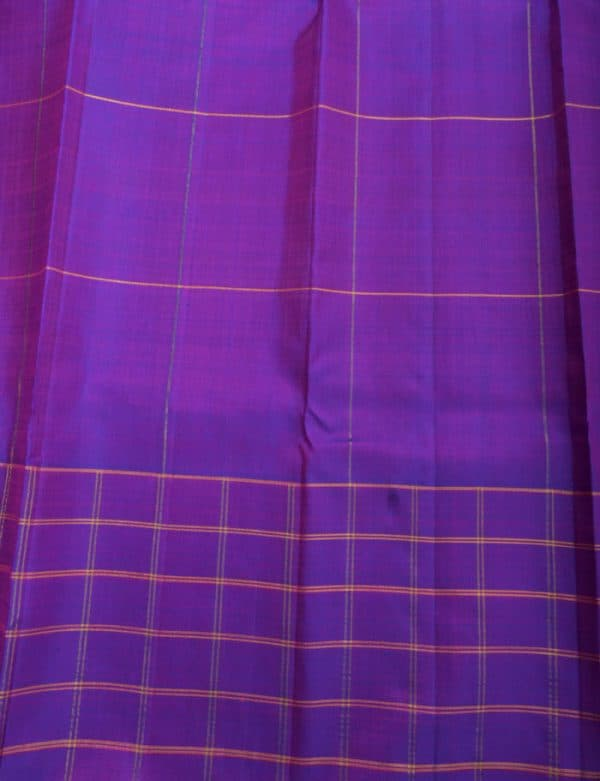 Pink kancheepuram Silk with violet border-12325