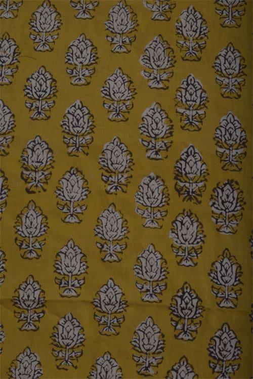 Blue kota saree with block prints -12342