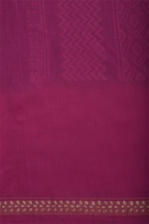 Indigo chandheri saree with border-12360