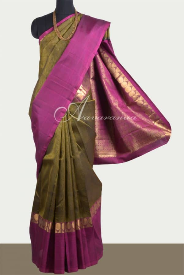 Black kanchi silk saree -0