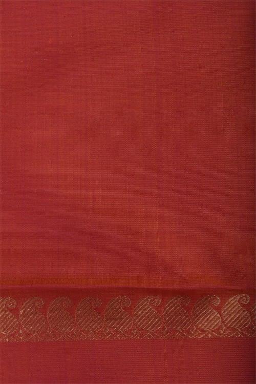 Orange & peach half & half kanchi silk-12409