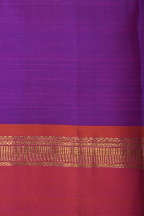 Orange kanchi silk saree-12418