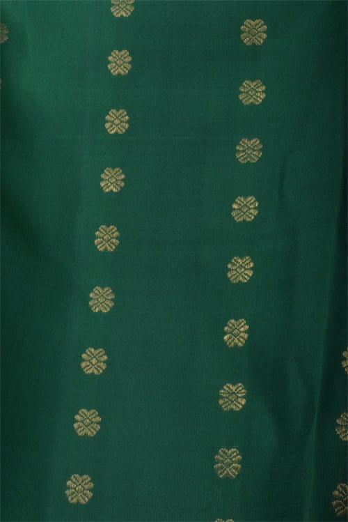 Mustard partly pallu kanchi silk saree-12434