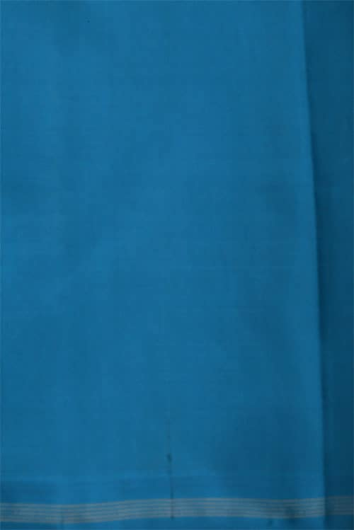 Yellow and blue partly silk-12440