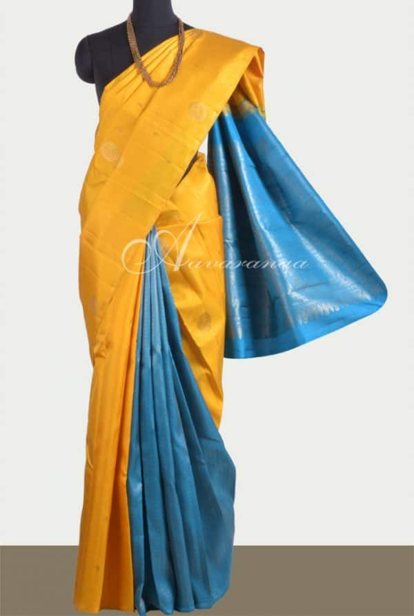 Yellow and blue partly silk-0
