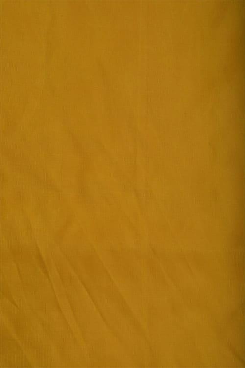 Yellow embroidered silk saree-12501