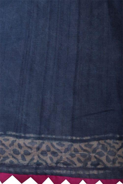 Indigo tussar saree-12507