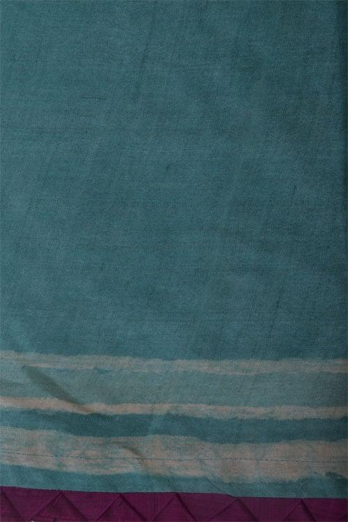 Teal tussar saree-12511