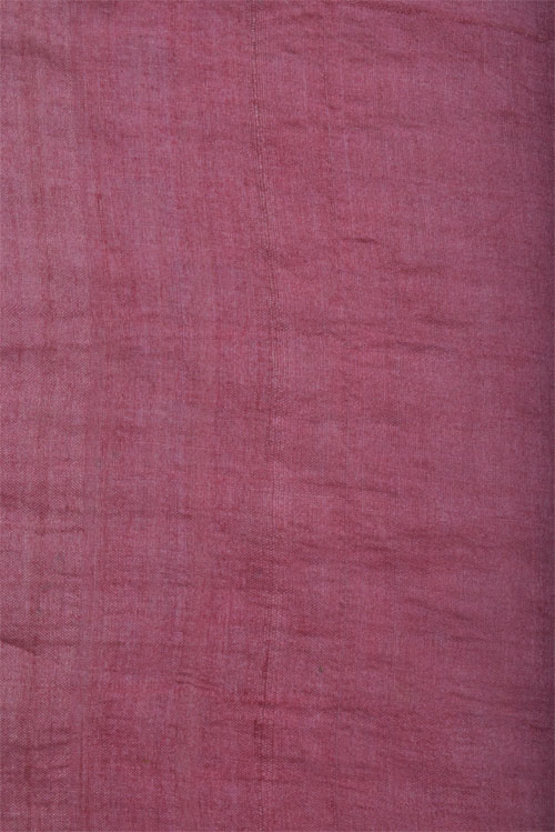 Printed tussar saree in pink with cutwork-12565
