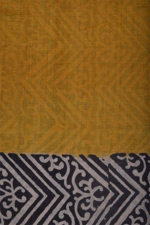 Beige and mustard tussar saree-12573