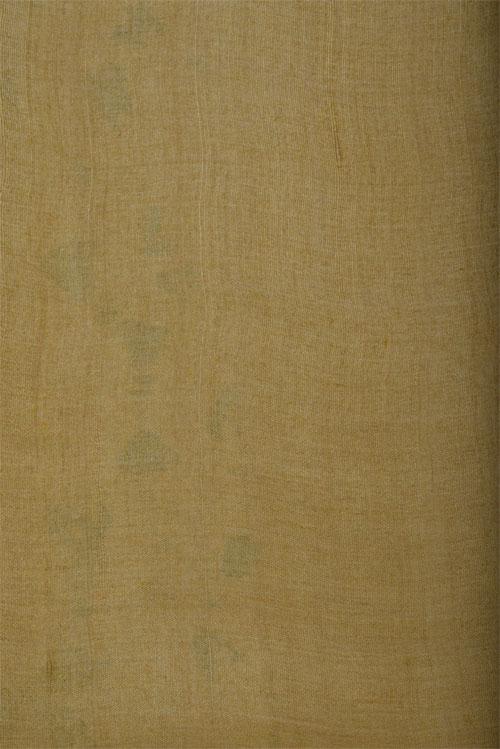 Lemon yellow printed tussar saree-12607