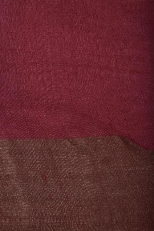 Black tussar saree with red tissue border-12671