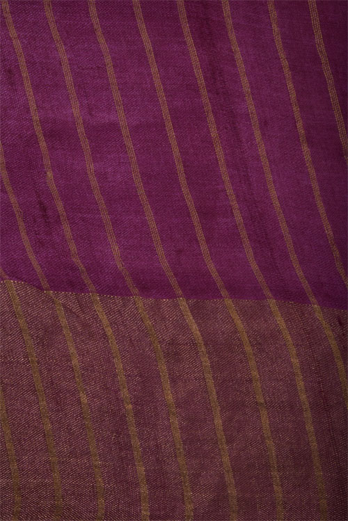 Blue tussar saree with pink tissue border-12679