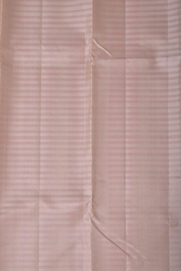 Pinkish red plain silk saree-13357