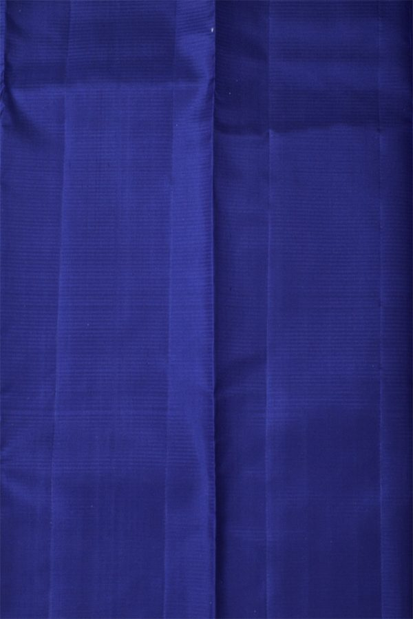Navy blue plain silk saree-13302