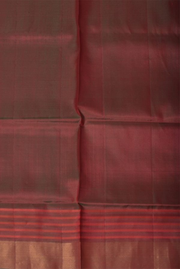 Red striped border uppada silk saree-13325