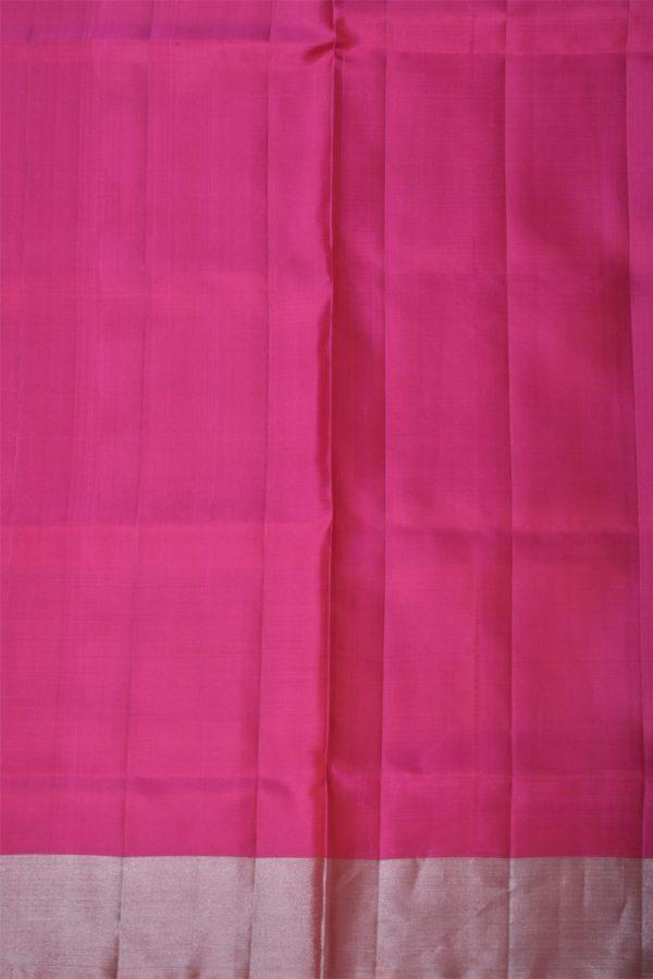 Bright pinksilver polka dots saree-13421