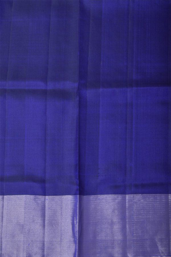 Dark bluesilver polka dots saree-13441