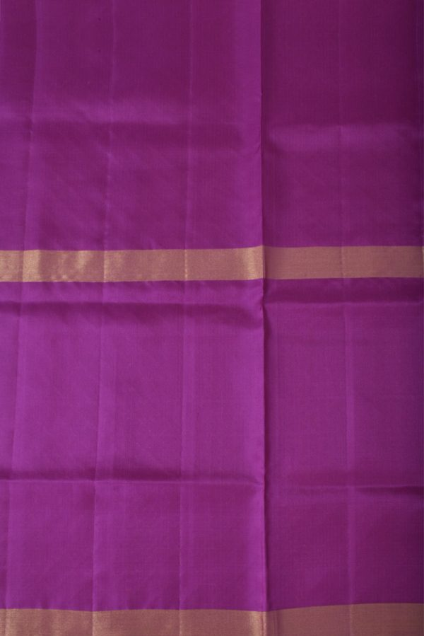 Lavendar silk saree with tree border-13494
