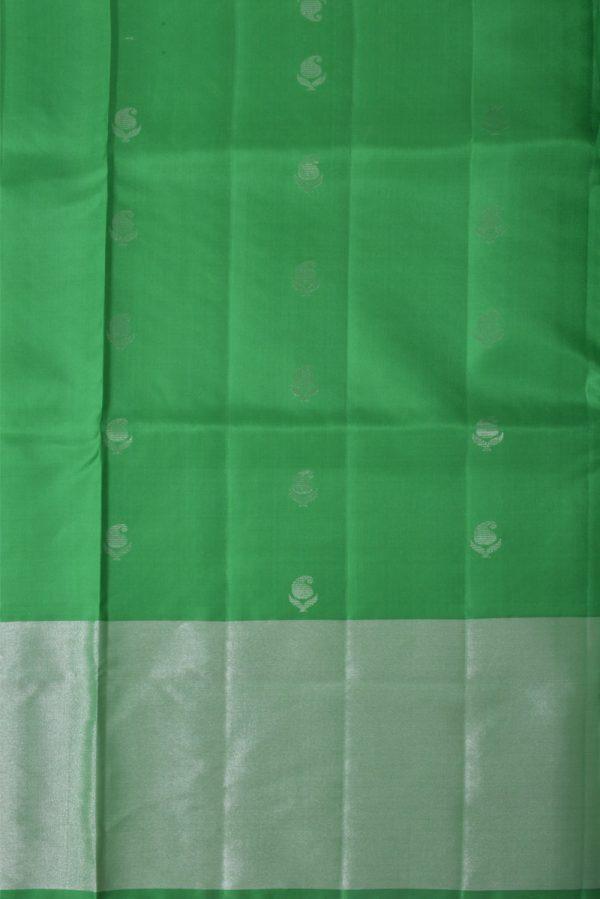 Greenbrocade silk saree-13517
