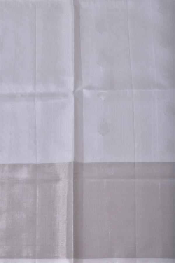 White brocade silk saree-13522