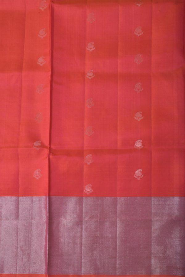 Red brocade silk saree-13531
