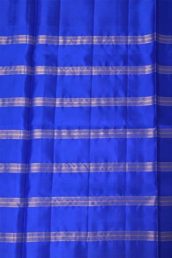 Bluehalf and half silk saree-13711