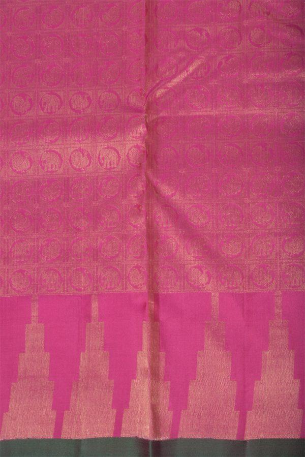 Plainpink soft silk saree brocade blouse-13785