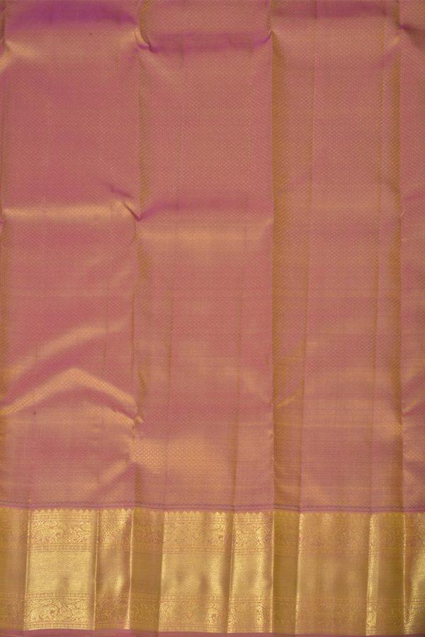 Lemon green kanchi silk brocade saree-13872