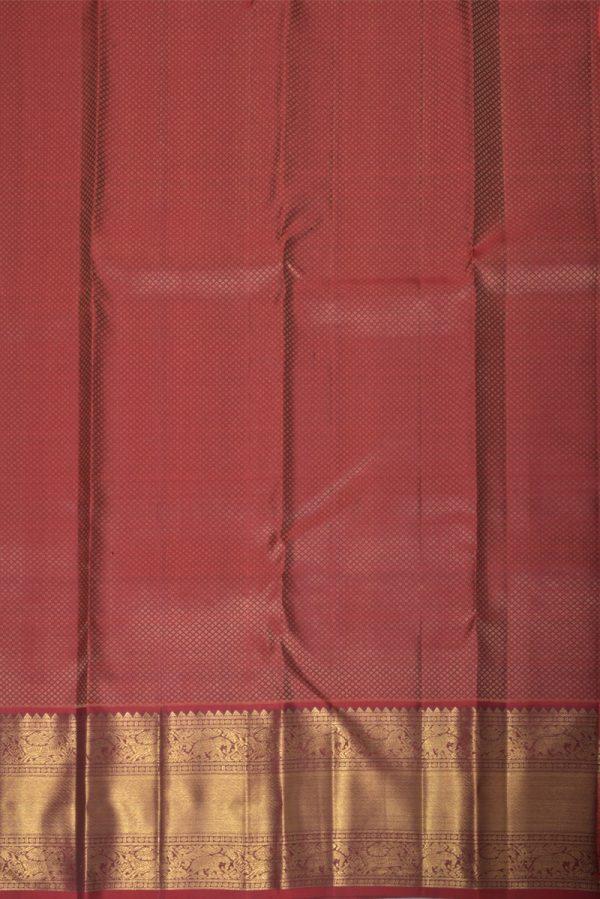 Bottlegreen kanchi silk brocade saree-13875