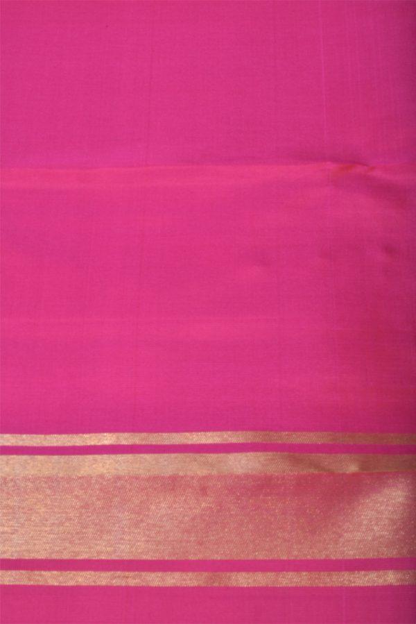Blue kanchi silk saree with paithani style border-13877