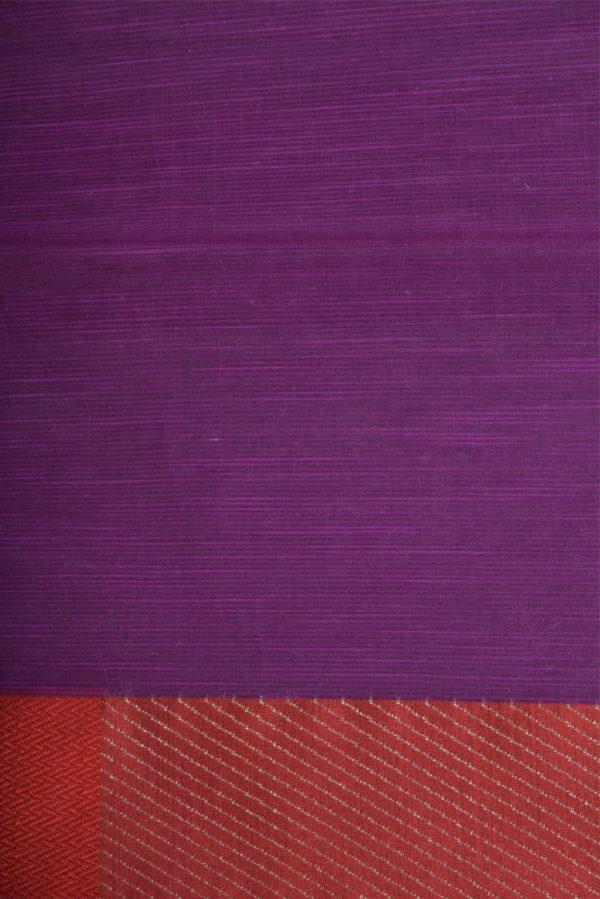 Violetbenaras cotton saree-13902