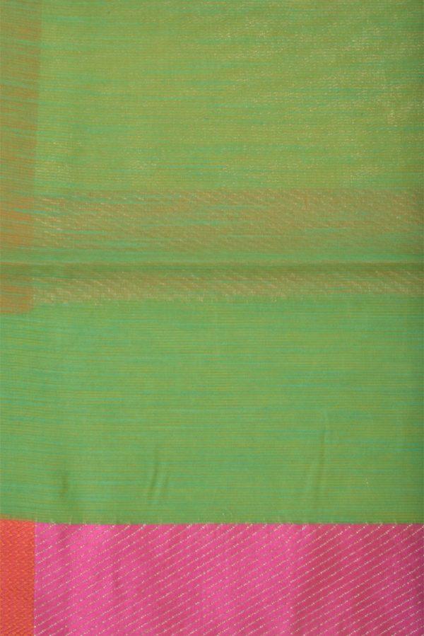 Greenbenaras cotton saree-13906